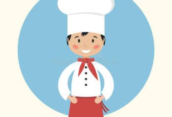 Cuisinier Dr´le De Chef De Dessin Animé Illustration de Vecteur